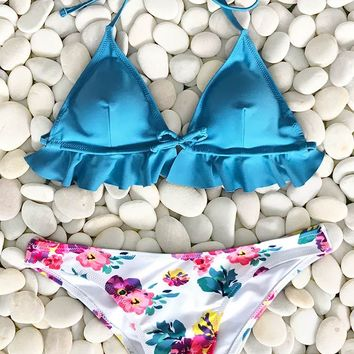 Cupshe The Heart Of The Ocean Print Bikini Set