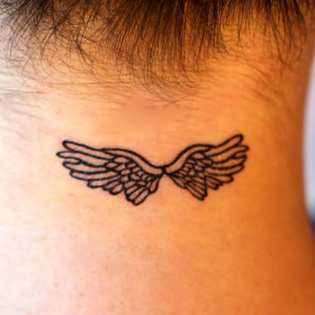 Gemma Arterton Celebrity Hollywood Inspired Angel Wings Temporary Tattoo