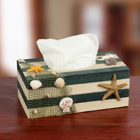 Mediterranean Sea Style Home Decor Decoration Box Vintage Strong Character Wooden Tissue Box [6282707078]