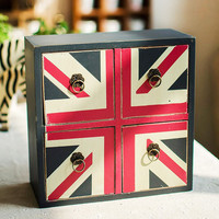 Engliand Flag England Style Wooden Weathered Storage Box Home Decor Accessory Box [6282890630]