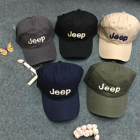 Jeep men and women's baseball sports cap black
