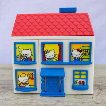 SANRIO - 1976 Hello KITTY - jewelry box - HOUSE - drawers
