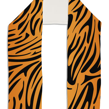 "Tiger Print Adult Fleece 64"" Scarf All Over Print"