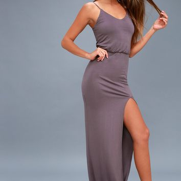 Watch the Sunset Dusty Purple Maxi Dress
