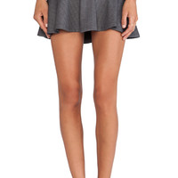 Lucca Couture Flutter Hem Skirt in Gray
