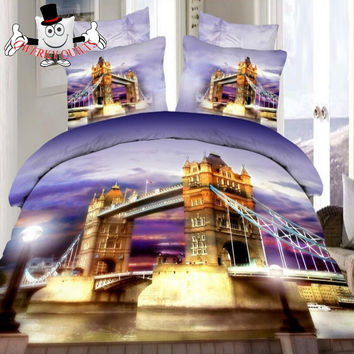 City Scene London Bridge Bedding Set and Quilt Cover