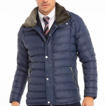Comfy Lightweight Puffer Jacket - Navy