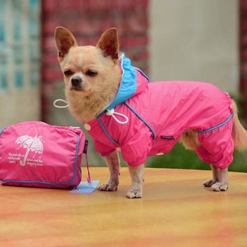 Small Pet Dog Hoody Jacket Rain Coat Waterproo