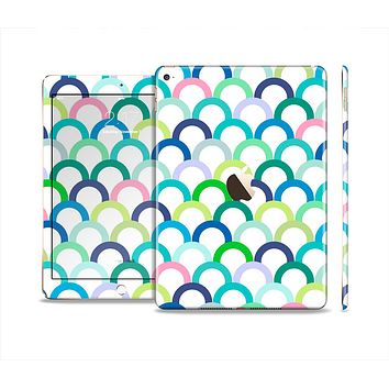 The Vibrant Fun Colored Pattern Hoops Skin Set for the Apple iPad Air 2
