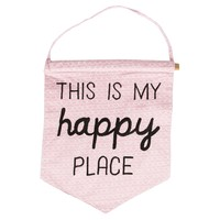 This is My Happy Place Pastel Banner - Pink