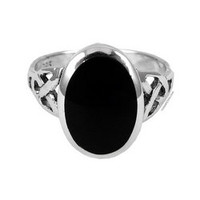Celtic Knot Black Stone Ring on Sale for $24.95 at HippieShop.com