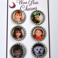Custom Picture Wine Charms