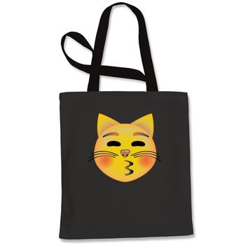 Color Emoticon - Cat Face Smiley Shopping Tote Bag