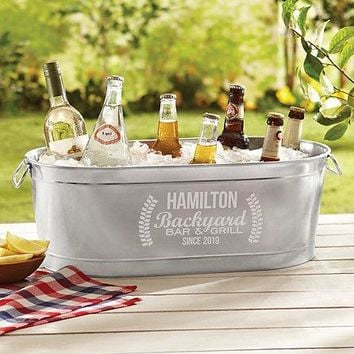 Personal Creations Backyard Bar Beverage Tub with Stand