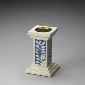 BUTLER  BONE INLAY CANDLE HOLDER