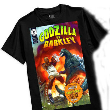 Charles Barkley vs Godzilla comic book cover vintage spike lee mars blackmon foamposite cb34 cb94 air force 180