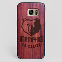 Memphis Grizzlies Galaxy S7 Edge Case - All Wood Everything