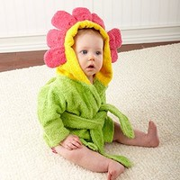 Adorable Baby Spa Robe (Monogram Available) - Flower