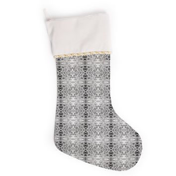 """Bruce Stanfield """"Rage Against the Machine BW"""" Black White Christmas Stocking"""