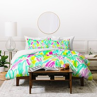 Rebecca Allen Spring Blooms Brightly Duvet Cover