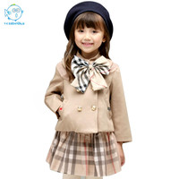 Baby Girls Sets Kids Clothes Spring 2017 New Fashion Outfits Kids Clothes Fall Children Sets Clothes Girl Sets Skirt Long Sleeve