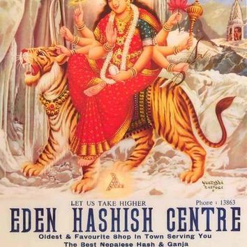 Eden Hashish Centre Parvati on Tiger Poster 24x36