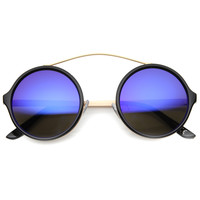 Retro High Cross Bar Revo Lens Round Sunglasses 9842