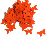Wedding Decor - Orange Butterfly Confetti - Biodegradable Confetti - 200 Pieces