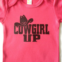 Fuschia Cowgirl Up Onesuit (MADE TO ORDER) (Rhinestones can be added for 2.50. Message me)