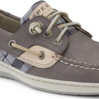 Sperry Top-Sider Ivyfish 3-Eye Boat Shoe Graphite/Plaid, Size 6M  Women's Shoes