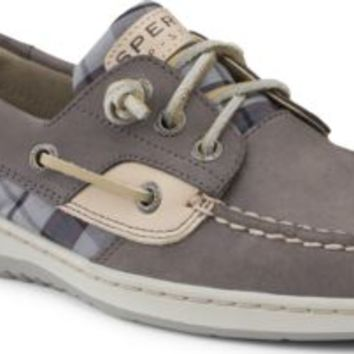 Sperry Top-Sider Ivyfish 3-Eye Boat Shoe Graphite/Plaid, Size 9.5M  Women's Shoes