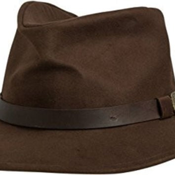 Brixton Men's Thorpe Fedora Hat, Brown, Small