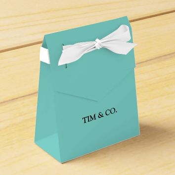 TURQUOISE TIFFANY BLUE CUSTOM CUSTOMIZABLE FAVOR BOX