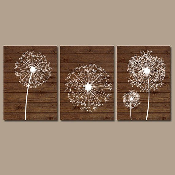 Dandelion Metal Wall Decor : Dandelion wall art flower artwork brown from trm design