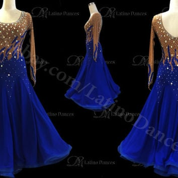 Ballroom / Standard Waltz Dance Dress With High Quality Rhinestone ST58D