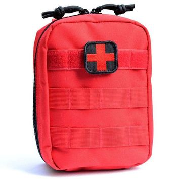 ONETOW ROCOTACTICAL Tactical Molle First Aid Bag Military Utility IFAK Pack Travel Emergency Medical EMT Pouch With Red Cross Patch