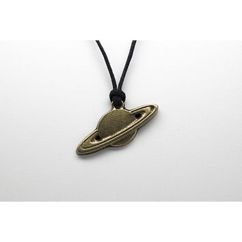 Saturn Unisex Necklace with Rope
