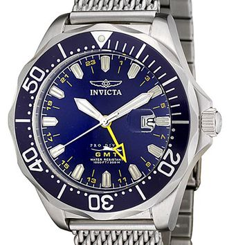 Invicta Men's Grand Pro Diver GMT Mesh Stainless Steel 6348