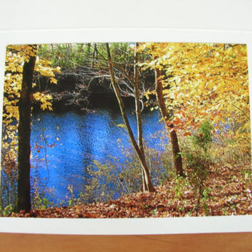 "Photo Note Cards Set of 4 Series ""At the River"" Handmade LittlestSister"