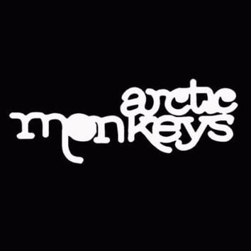 Arctic Monkeys Vinyl Music Decal Window Sticker Car Truck White