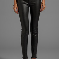 rag & bone/JEAN The Leather Skinny in Black from REVOLVEclothing.com