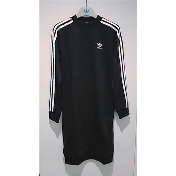 adidas Originals Three Stripe Sweatshirt Dress