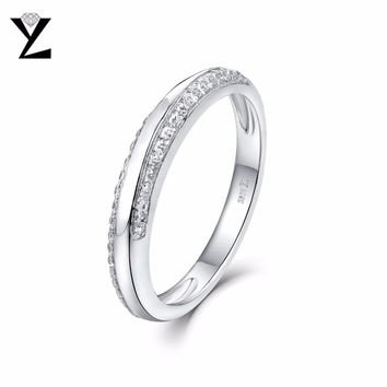 YL Wedding Ring for Men and Women Fine Jewelry Engagement Love Anniversary Promise Ring Pure 925 Sterling Silver Jewelry