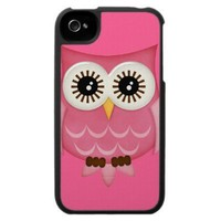 Pink Owl iPhone 4 Case Cover by SPECK from Zazzle.com