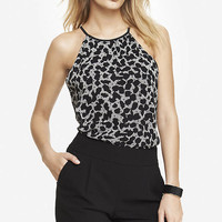 PRINTED HIGH NECK BLOUSON CAMI from EXPRESS