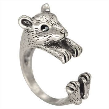 Hamster/Gerbil/Mouse Ring for Men and Women - 1 size fits all (adjustable)