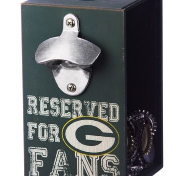 Green Bay Packers Bottle Opener Cap Caddy by Evergreen Enterprises, Inc