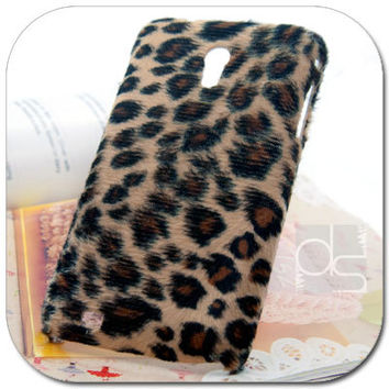Sprint Samsung Epic Touch 4G D710 Galaxy S 2 II S2 Skin Case: Velvet felt Hand Craft Custom Made Unique Hard Back Case Cover (Leopard)