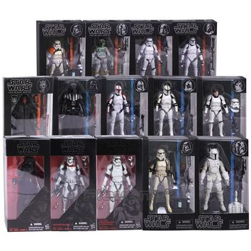 Star Wars Force Episode 1 2 3 4 5  The Black Series Kylo Ren Stormtrooper Phasma Darth Maul Darth Vader Hab Solo PVC Action Figure Toy 14 Types AT_72_6