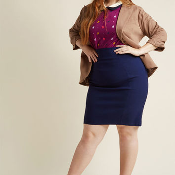 I'll Have the Usual Stretch Pencil Skirt in Navy